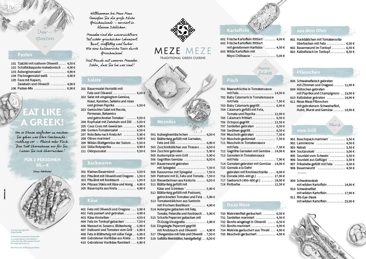 Speisekarte 2019 DE - Meze Meze